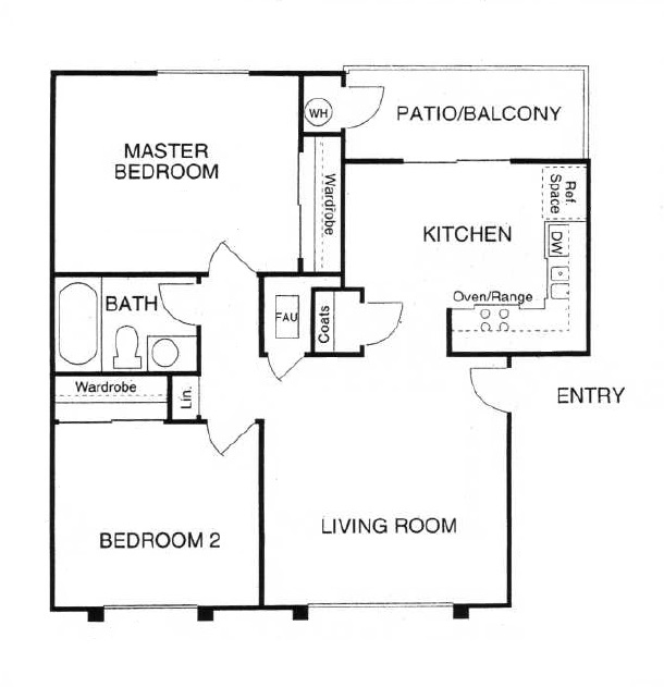 2-Bedroom Layout - Summit Place Apartments - Moreno Valley, CA
